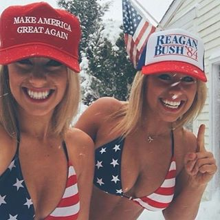 Image result for hotties for trump